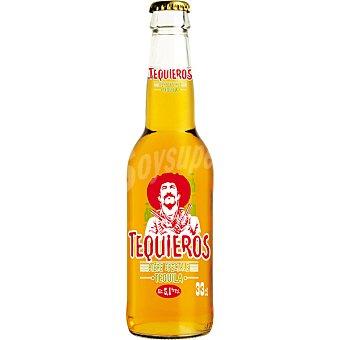 Tequieros cerveza rubia francesa con tequila  botella 33 cl
