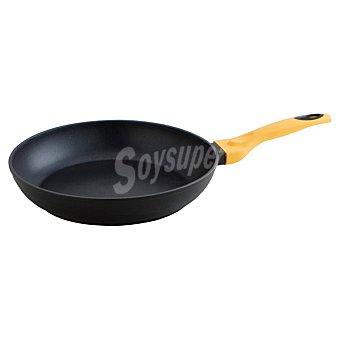QUID Iron Sartén de aluminio forjado con mango en color amarillo 28 cm 1 Unidad