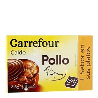 Carrefour Caldo de pollo pastillas Pack de 24x10 g