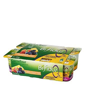 Carrefour Yogur desnatado Bífidus con fruta Pack de 8x125 g