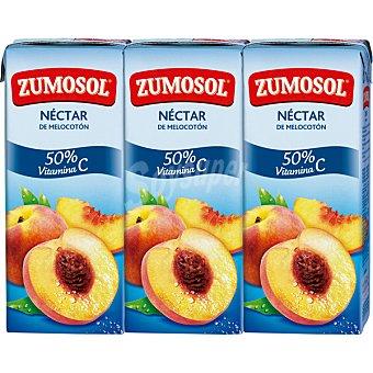 Zumosol Zumo concentrado de melocotón y manzana con vitamina C 3 bricks de 200 ml