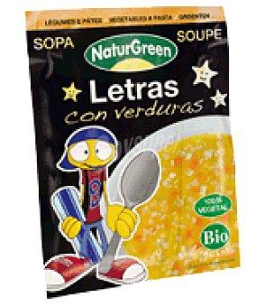 Naturgreen Sopa de Letras con Verduras Ecológica Sobre 40 gr