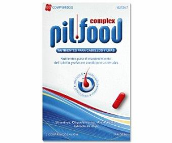 PILFOOD Complex Tratamiento con vitaminas, aminoácidos y extracto de mijo para el cabello y uñas, 60 Comprimidos