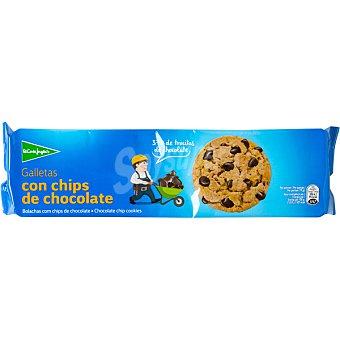 El Corte Inglés Galletas con chips de chocolate 37% de trocitos Estuche 225 g