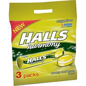Halls Caramelos duros sabor crema-limón sin azúcar Harmony Pack 3 envase 24 g