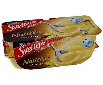 SVELTESSE Natillas de vainilla 0,9% M.G 4 unidades de 115 g