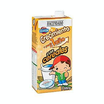 Hacendado Preparado lacteo liquido infantil crecimiento con cereales a partir 1 año Brick 1 l
