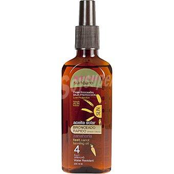 NIEVINA Suncare aceite solar zanahoria dorado intenso bronceado rápido FP-4 resistente al agua  spray 200 ml