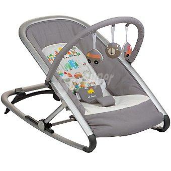 BE COOL 846 hamaca Line para bebé con arco de actividades en color gris con dibujos de ciudad con coches