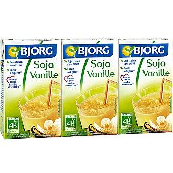 Bjorg Bebida de soja sabor vainilla Pack 3 envases 25 cl