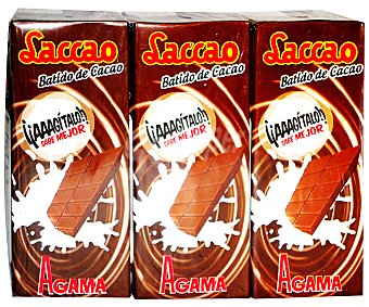 Laccao Batido de Cacao Pack 3 Unidades de 200 Mililitros