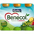 Yogur líquido soja sabor tropical pack 6 unidades 65 ml Pack 6 unidades 65 ml Kaiku Benecol