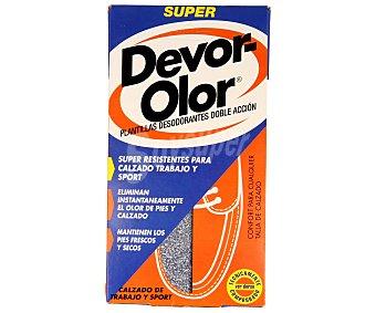 Devor-olor Plantillas desodorantes especiales para calzado de trabajo 1 unidad