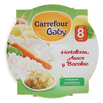 Carrefour Baby Plato de hortalizas, arroz y bacalao 200 g