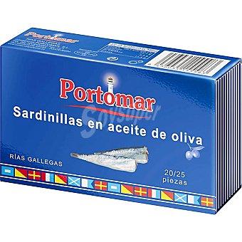 Portomar Sardinillas en aceite de oliva 20-25 piezas lata 81 g neto escurrido Lata 81 g neto escurrido