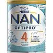 NAN 4 Optipro fórmula de crecimiento premium en polvo a partir de 24 meses bote 800 g Bote 800 g Nestlé