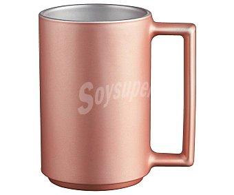 LUMINARC Ameno Taza de 0,32 litros fabricada en vidrio templado color rosa pastel metalizado, modelo Ameno luminarc. 0,32 litros