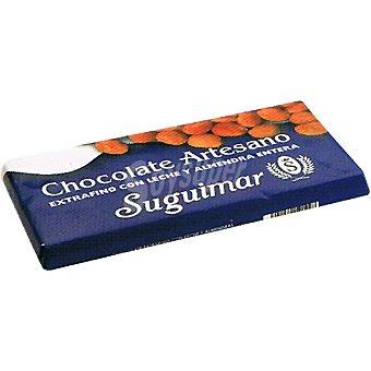 Suguimar Chocolate con leche y almendras artesano Tableta 150 g