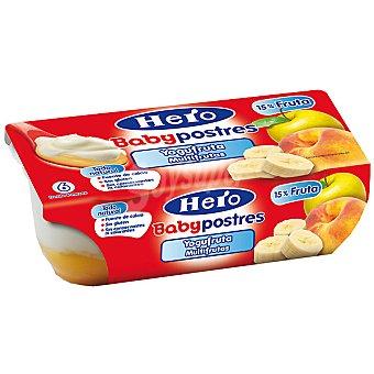 Hero Baby Tarrito Yogufruta Multifrutas Postres pack 2x130 g