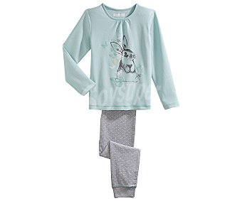 In Extenso Pijama largo para niña, color verde, talla 3