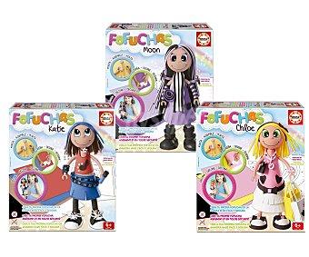 EDUCA Caja para montar, diseñar y decorar Fofuchas, 4 modelos diferentes; Moon, Pixie, Chloe o Katie 1 unidad