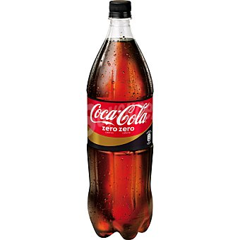 Coca-Cola Zero Refresco de cola zero sin cafeína Botella de 1,5 Litros