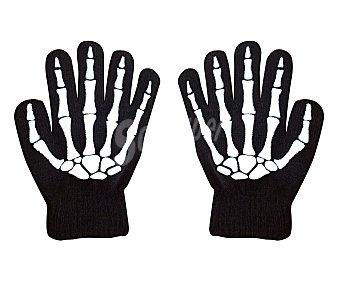 MY OTHER ME Complemento para disfraz Halloween, guantes con huesos de esqueleto para adulto, talla única Guantes esqueleto adulto