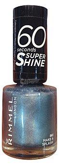 RIMMEL Laca uñas 60 segundos nº 861 azul grisaceo metalizado 1 unidad