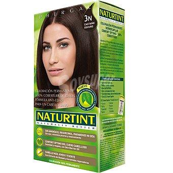 Naturtint Tinte castaño oscuro 3n color permanente sin amoniaco caja 1 unidad Caja 1 unidad