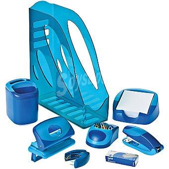 EAGL-TING YUNG set de oficina en color azul vivo