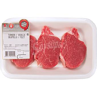 Gourmet Ternera solomillo bandeja 400 g peso aproximado 2-3 unidades