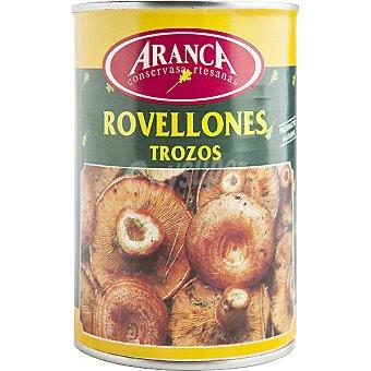 Aranca Rovellones en trozos Lata 200 g neto escurrido