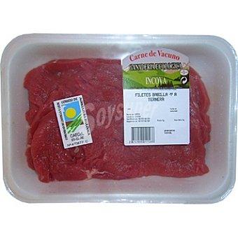 INCOVA Ternera ecológica filetes de babilla 1ª A peso aproximado bandeja 400 g 2-3 unidades