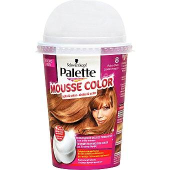Schwarzkopf Palette tinte nº 8 rubio Claro coloración Mousse Color permanente con brillo intenso envase 1 unidad con perfume afrutado Envase 1 unidad