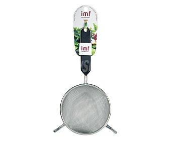 IMF Colador de acero inoxidable con dos apoyos y mango de polietileno, 12 centímetros de diámetro 1 unidad