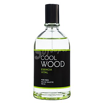 Cool wood Eau toilette hombre aroma esencia vital con vaporizador (verde) Botella 100 cc