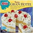 Tarta Gran Hotel, helado de vainilla y turrón con bizcocho y cerezas  10-12 raciones estuche 1500 ml Kalise
