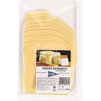 Hipercor Queso de sándwich en lonchas Envase 200 g