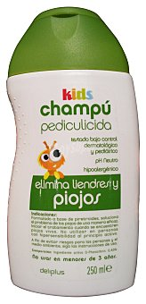 Deliplus Champu cabello antiparasitos Botella 250 cc