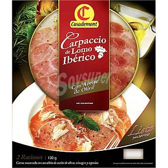 Casademont Carpaccio de lomo ibérico con aceite de oliva Envase 100 g