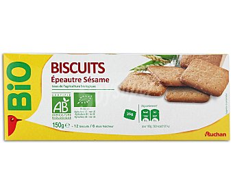 Auchan Galletas ecológicas de escanda y sésamo 150 gramos