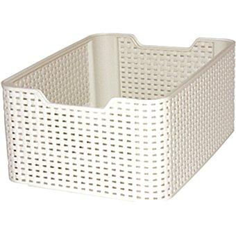 CURVER Natural Style Cesta de plástico style blanco 18 l 18 l