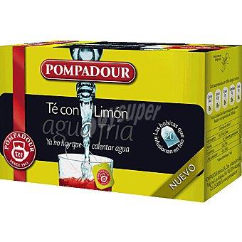 Pompadour té con limón para agua fría Estuche 20 bolsitas