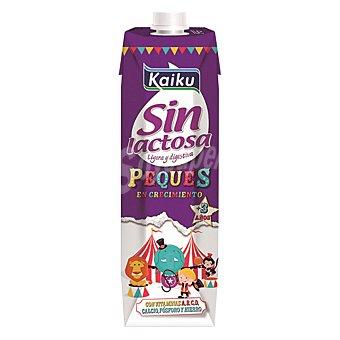 Kaiku Sin Lactosa Leche para peques en crecimiento sin lactosa Kaiku 1 l