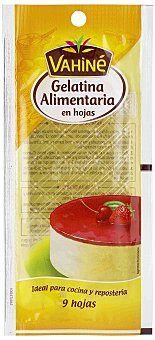 Vahine Gelatina alimentaria 9 hojas 17 g