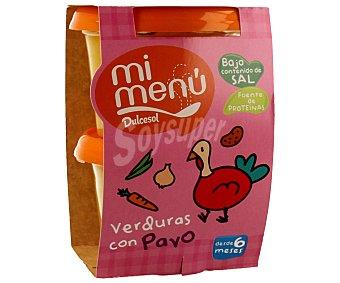 Dulcesol Tarrito de verduras con pavo 2 unidades 200 gramos