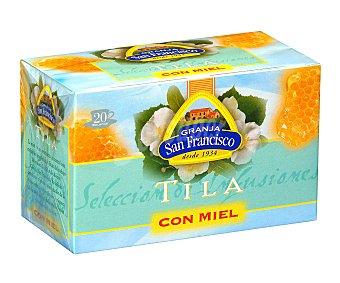 Granja San Francisco Tila con miel 20 unidades