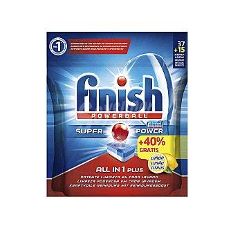 Finish Finish Todo en 1 Limón 37+15 dosis 52 pastillas