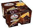 Crema bombón de chocolate negro con sabor a naranja selección 4 x 125 g Clesa