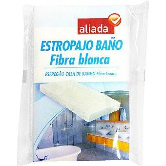Aliada Estropajo fibra blanca baño Envase 1 unidad